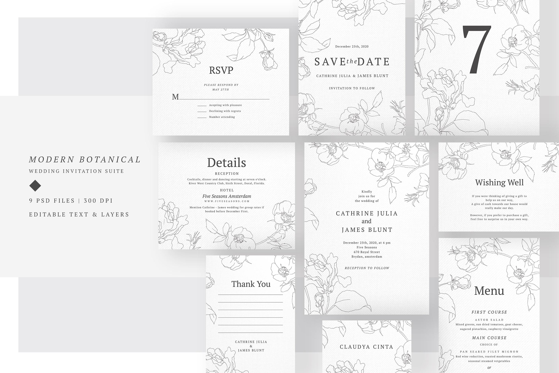 Wedding Invitation Suite - M.Botanic example image 1