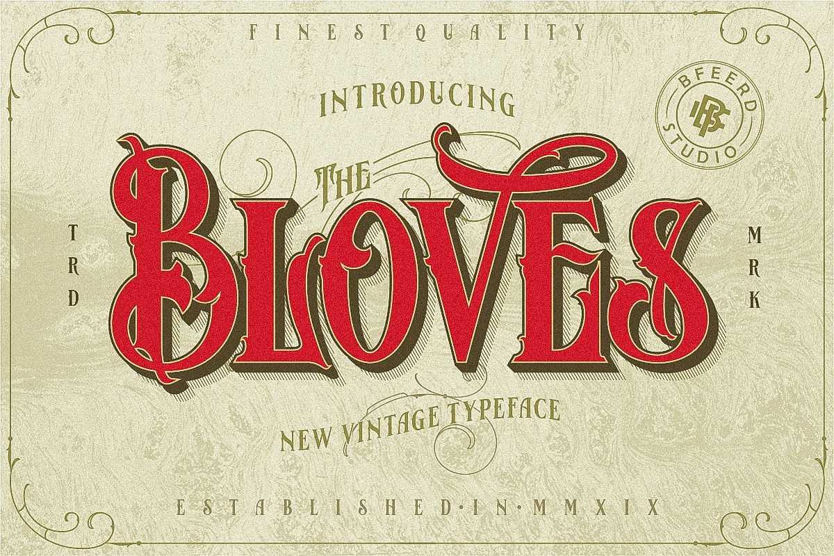 Bloves Vintage Typeface example image 1