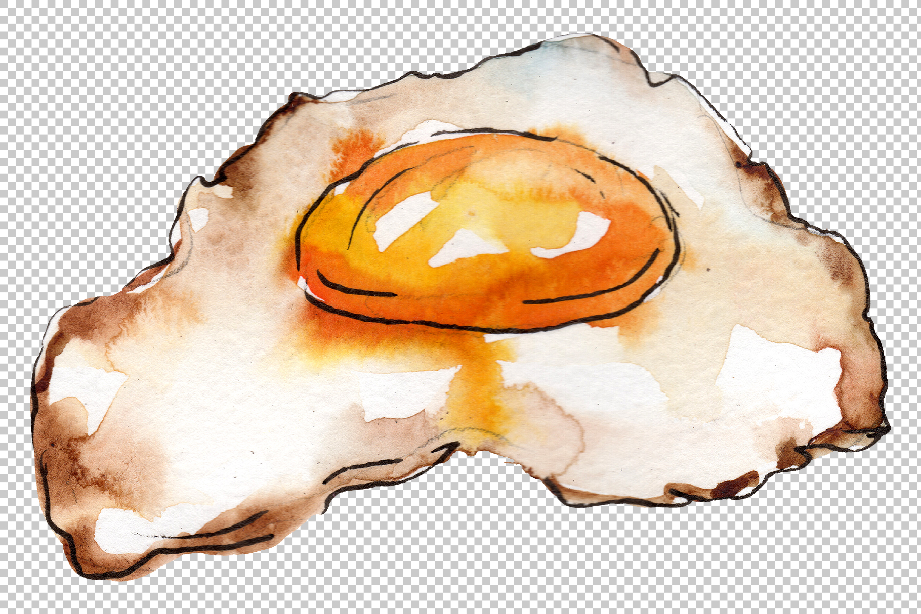 Hamburger for gentleman watercolor png example image 4