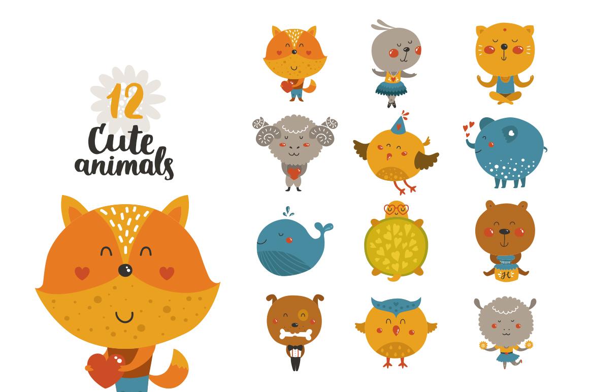 Cute Animals Bundle • 80% OFF example image 4
