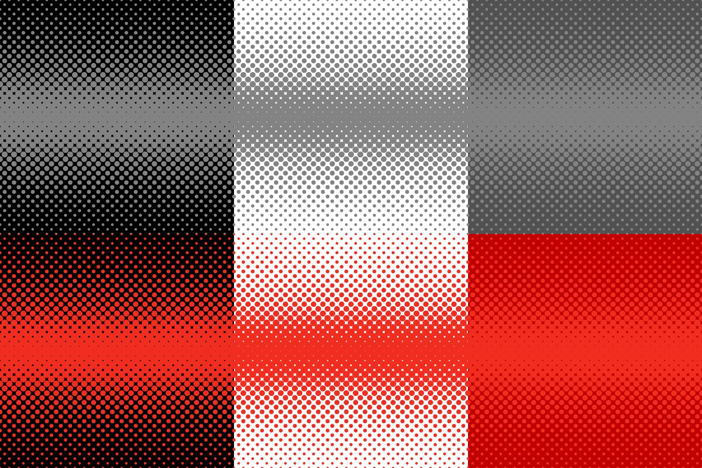 30 Halftone Dot Backgrounds (AI, EPS, JPG 5000x5000) example image 2