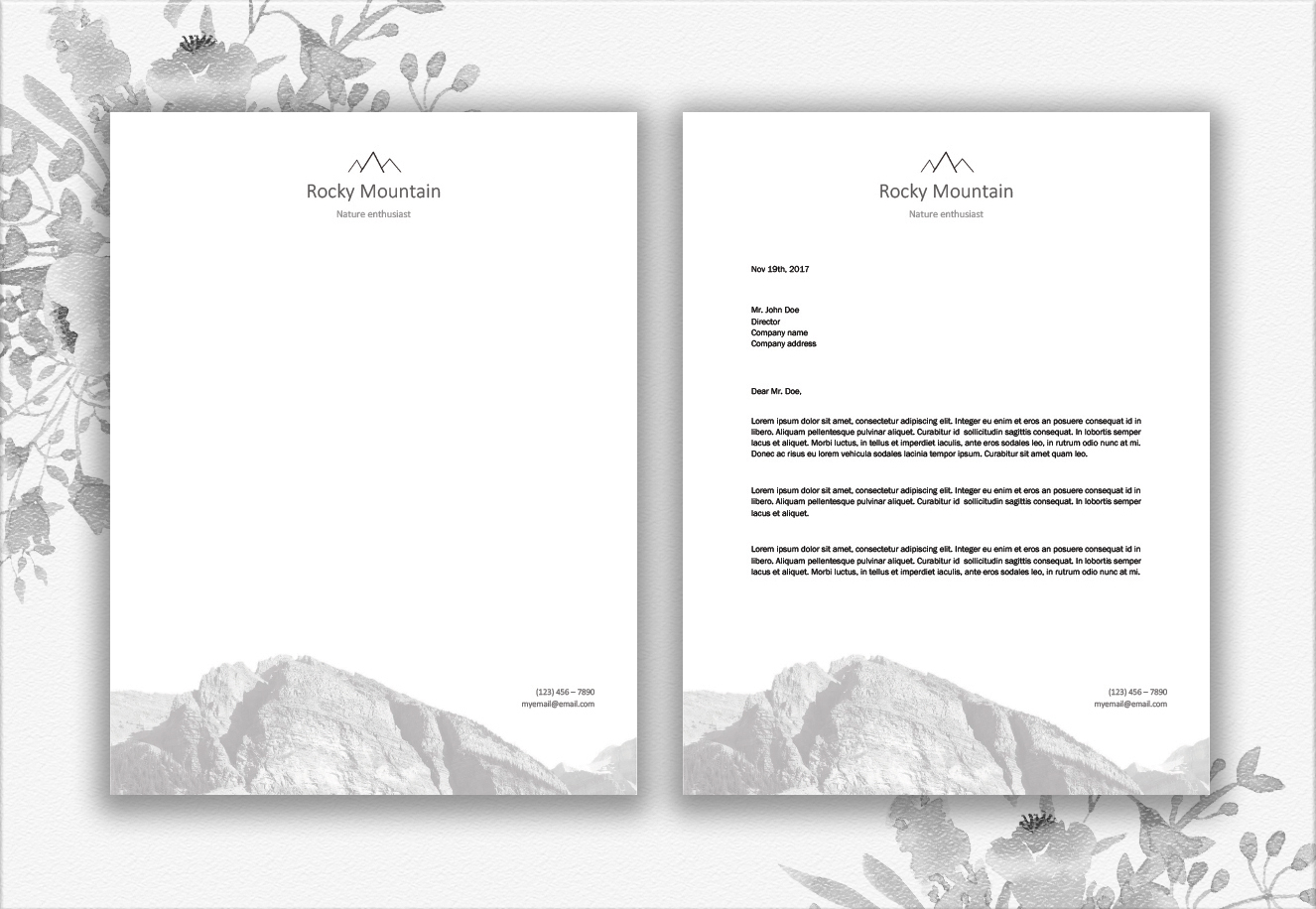 Mountains Letterhead Design Template example image 3