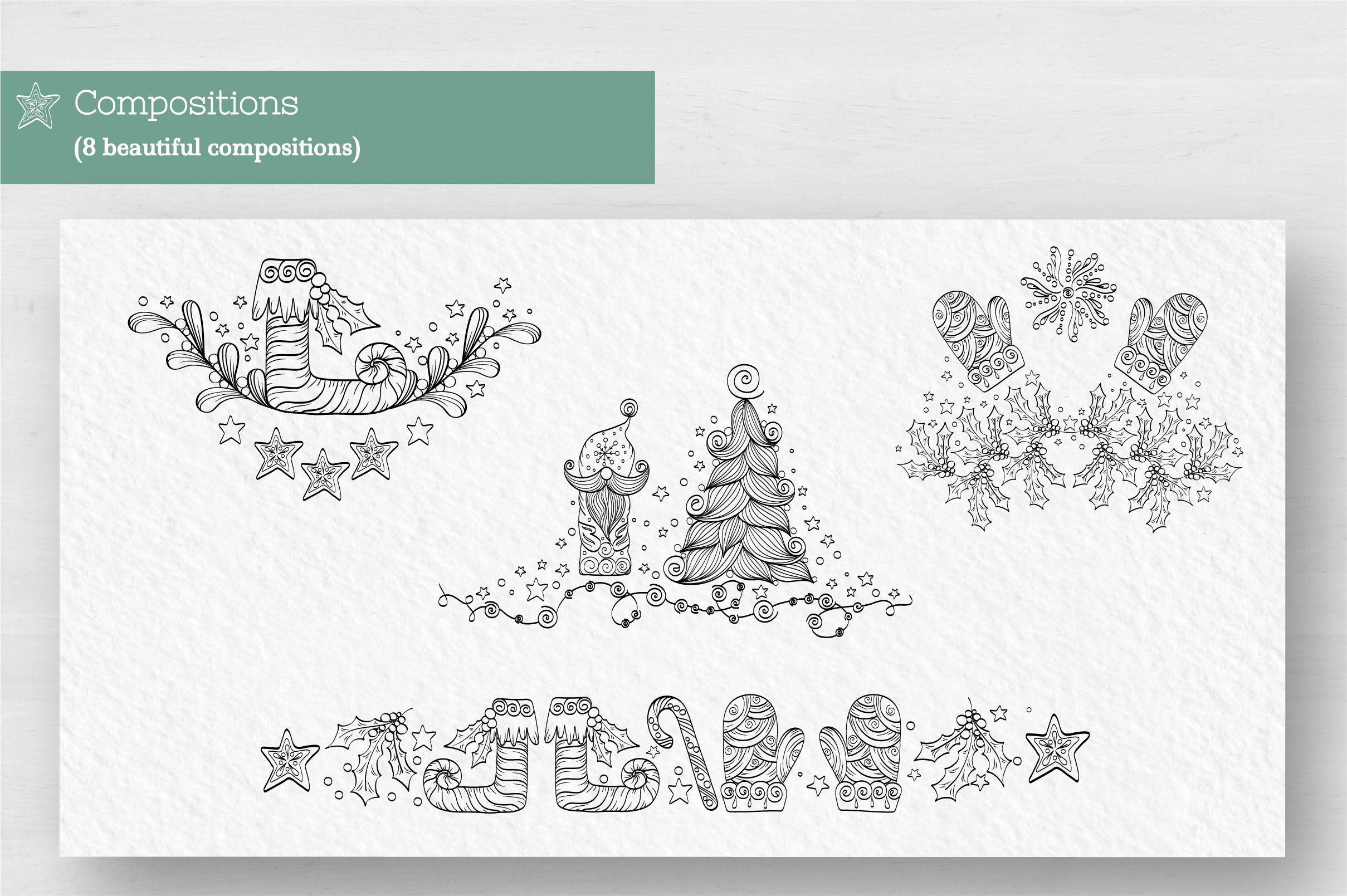 Doodle Christmas Vector Collection example image 3