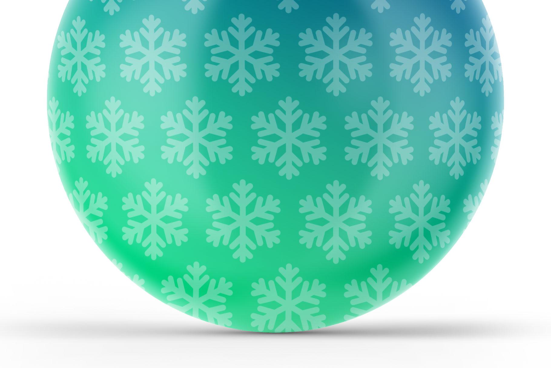 Matte Christmas Ball Mockup example image 6
