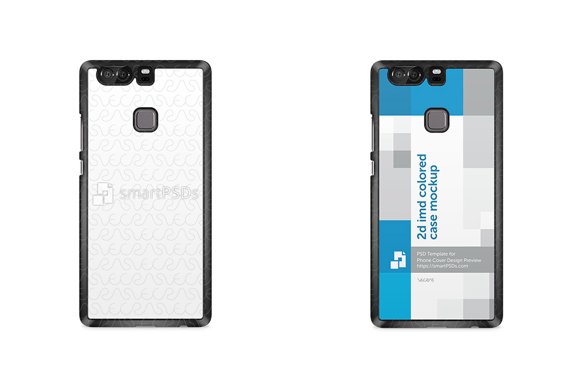 Huawei P9 Plus 2d IMD Colored Mobile Case Design Mockup 2016 example image 1