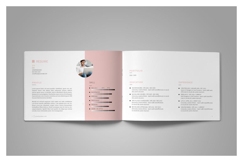 Graphic designer portfolio template indesign indd a4 size 8. 27.