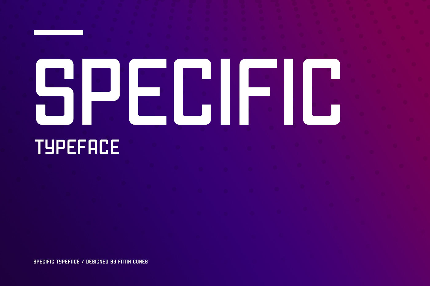 Specific Typeface example image 1