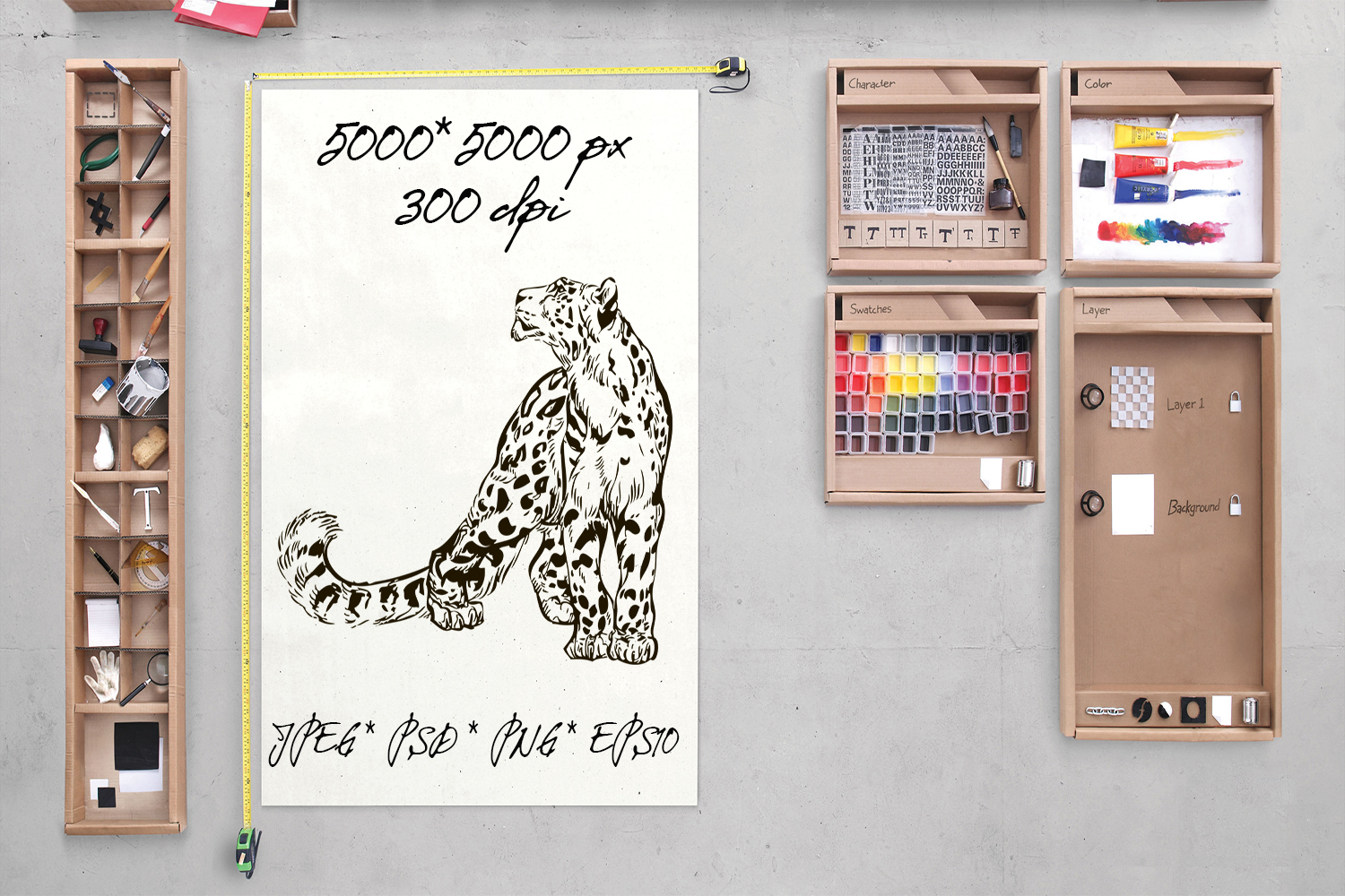 50 wild animals hand drawn silhouette vector illustrations example image 2