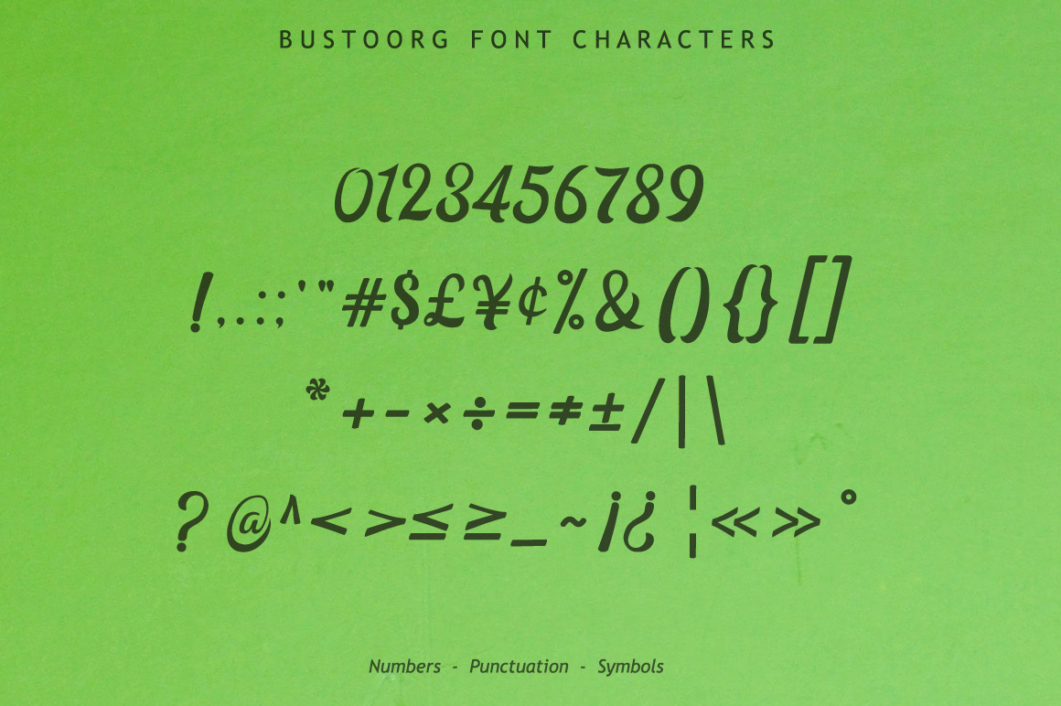 Bustoorg Font example image 15