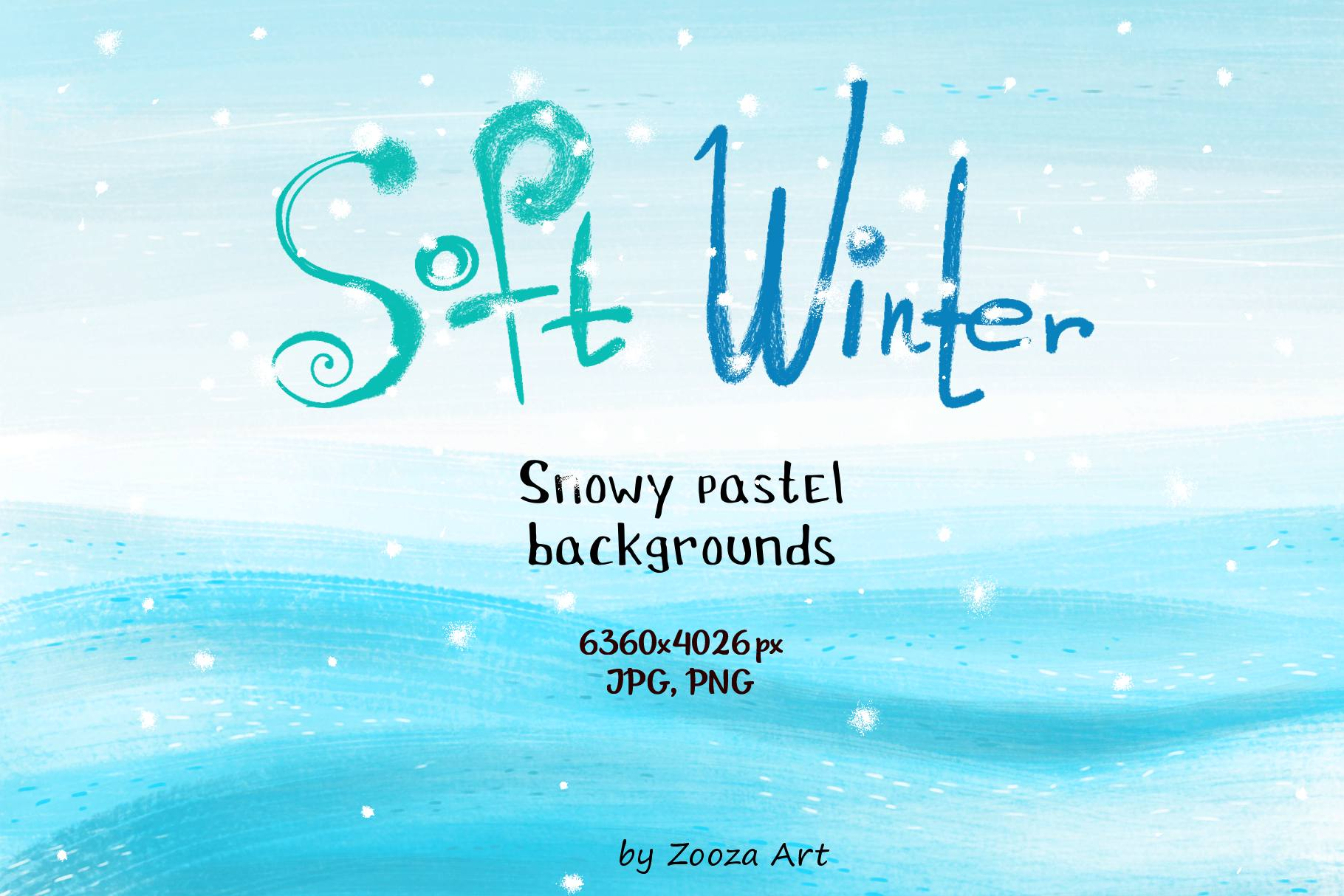 Soft winter snowy backgrounds example image 1