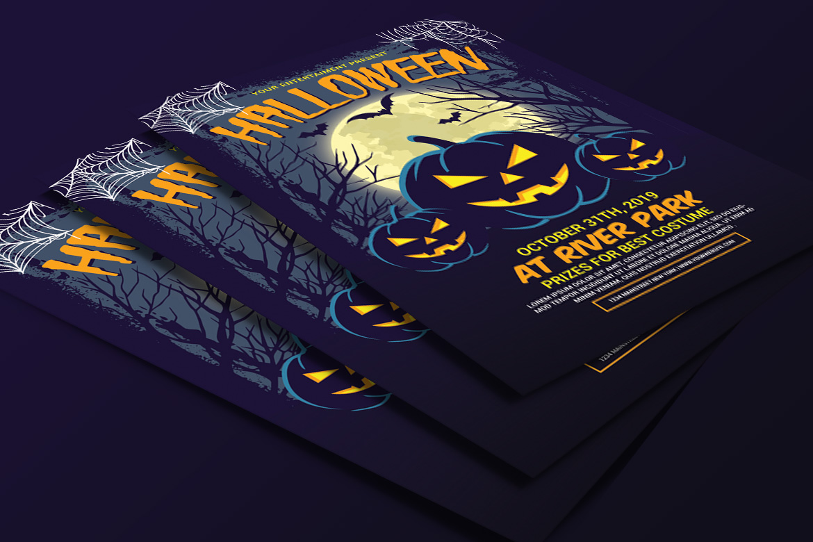 Halloween Party Flyer example image 4
