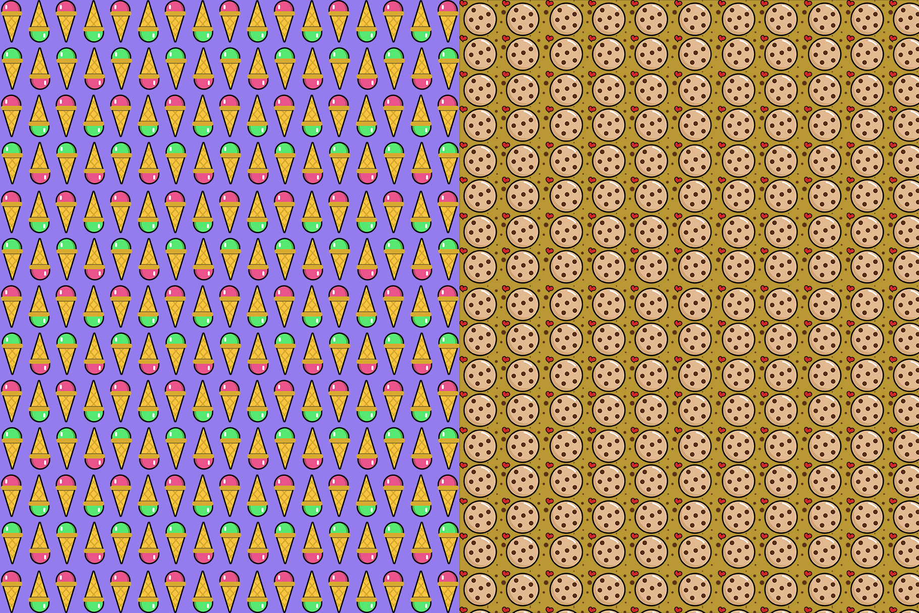 10 Sweets Seamless Patterns example image 7
