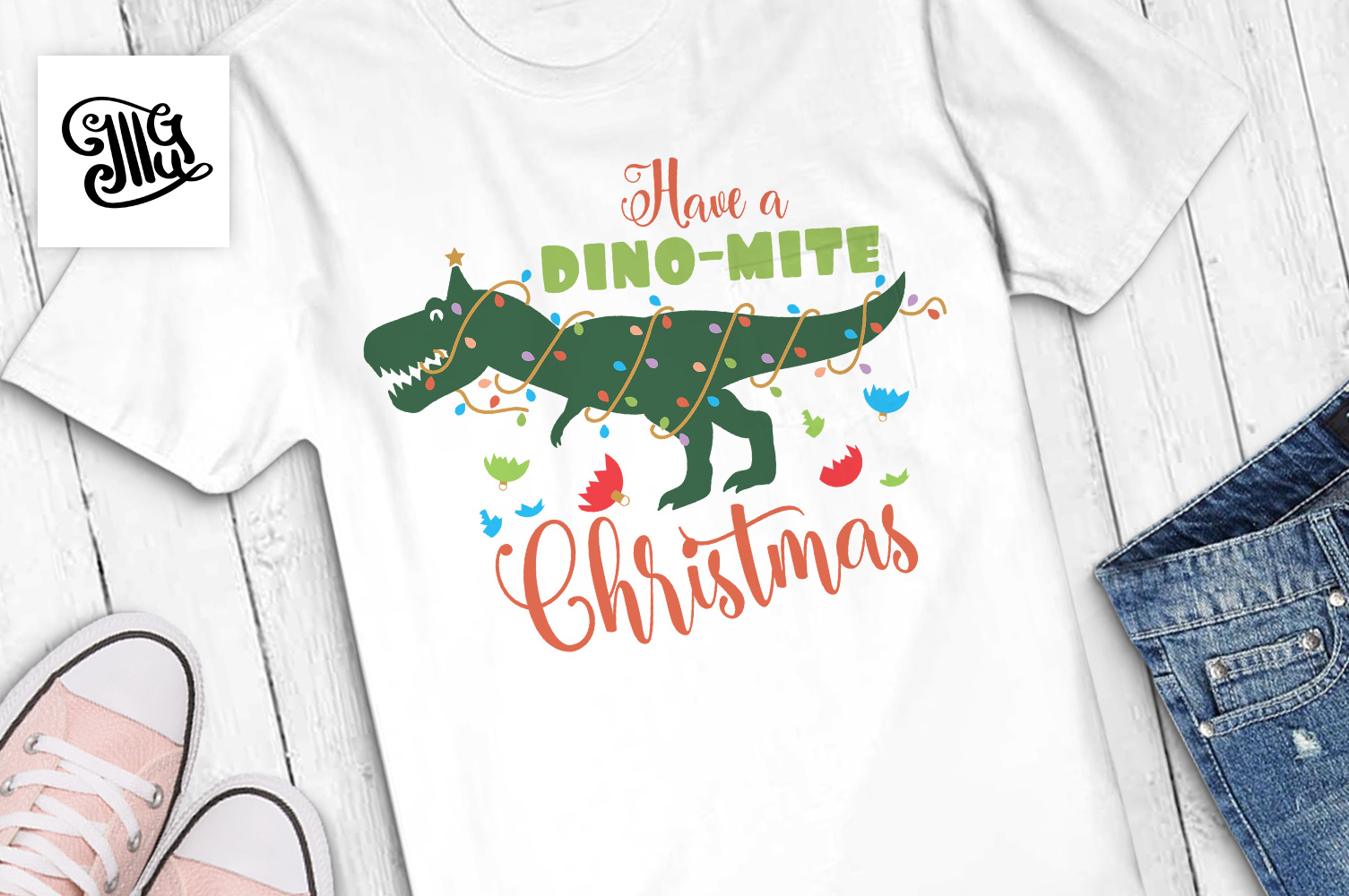 Have a dinomite Christmas - kids example image 1