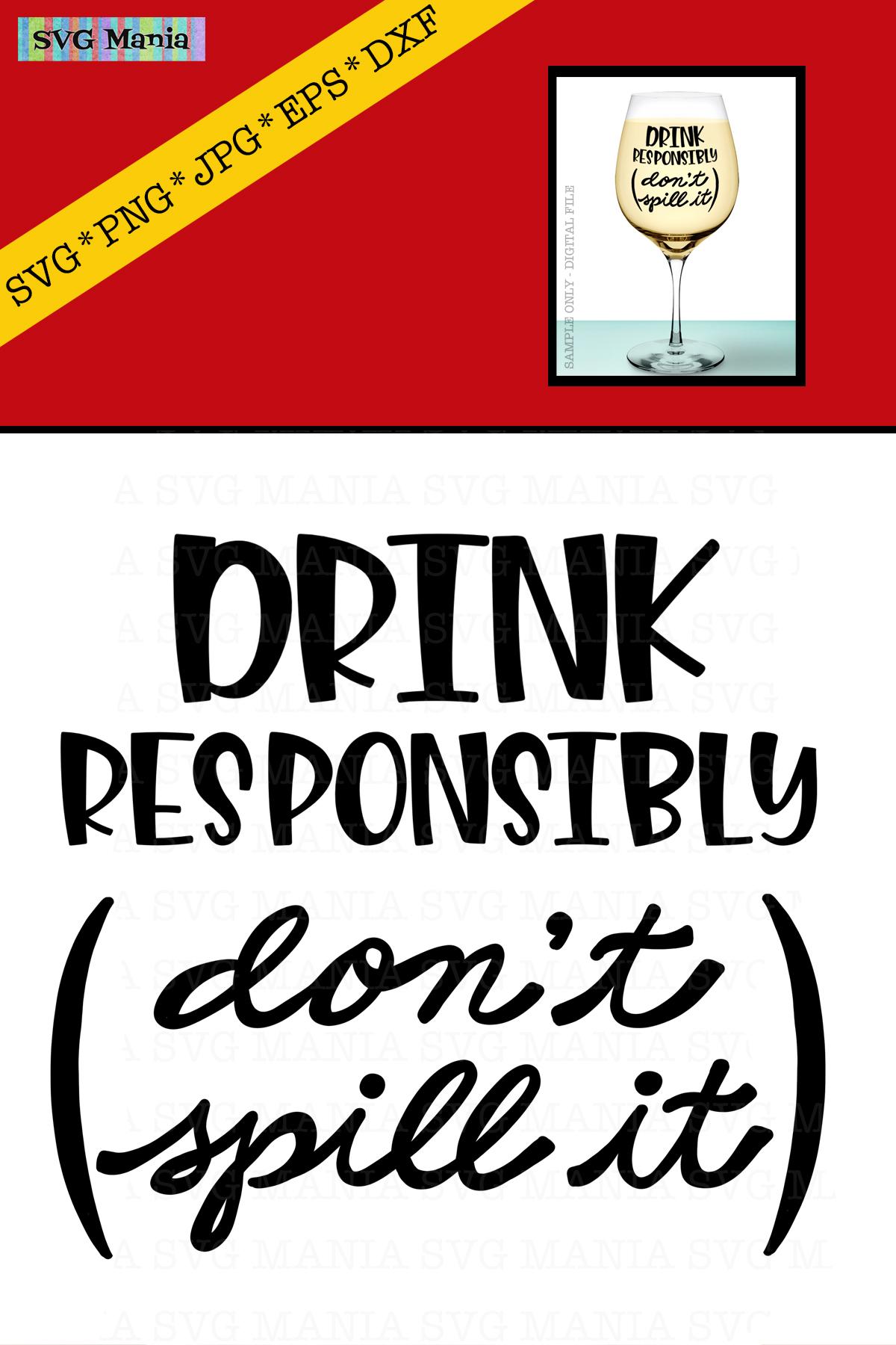Funny Wine Glass SVG File, Wine Glass Saying SVG, Wine SVG example image 2