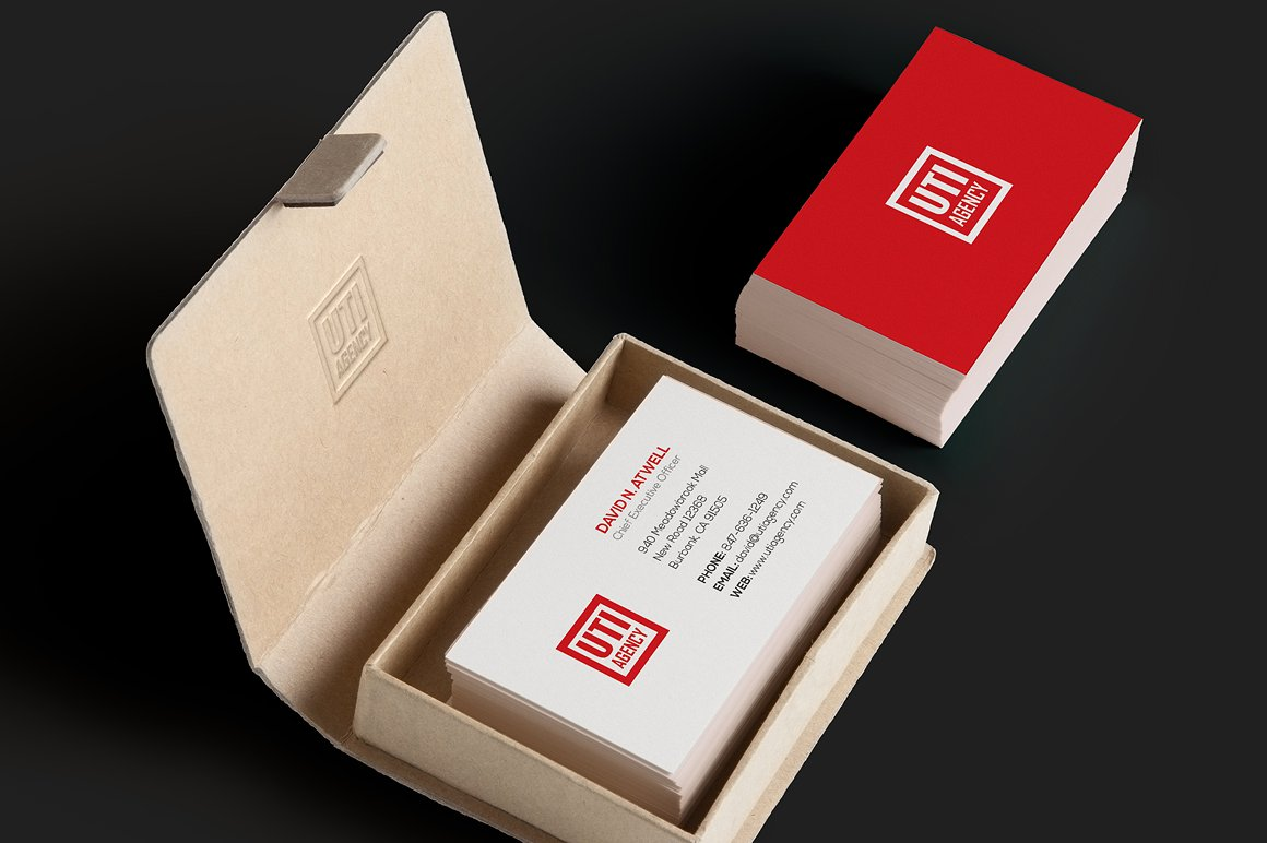 Red Corporate Business Card example image 1