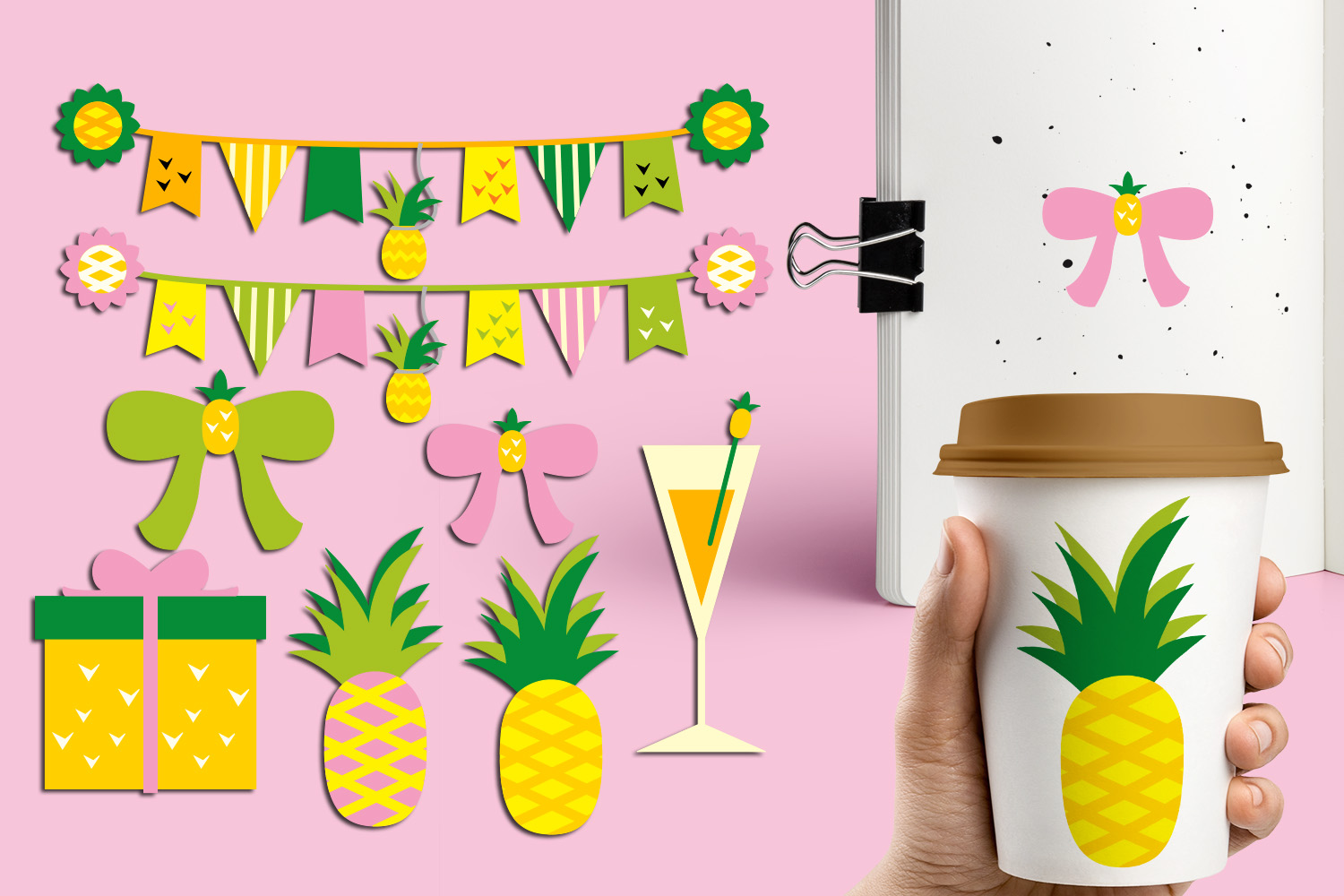 Pineapple Party Illustrations Bundle example image 5