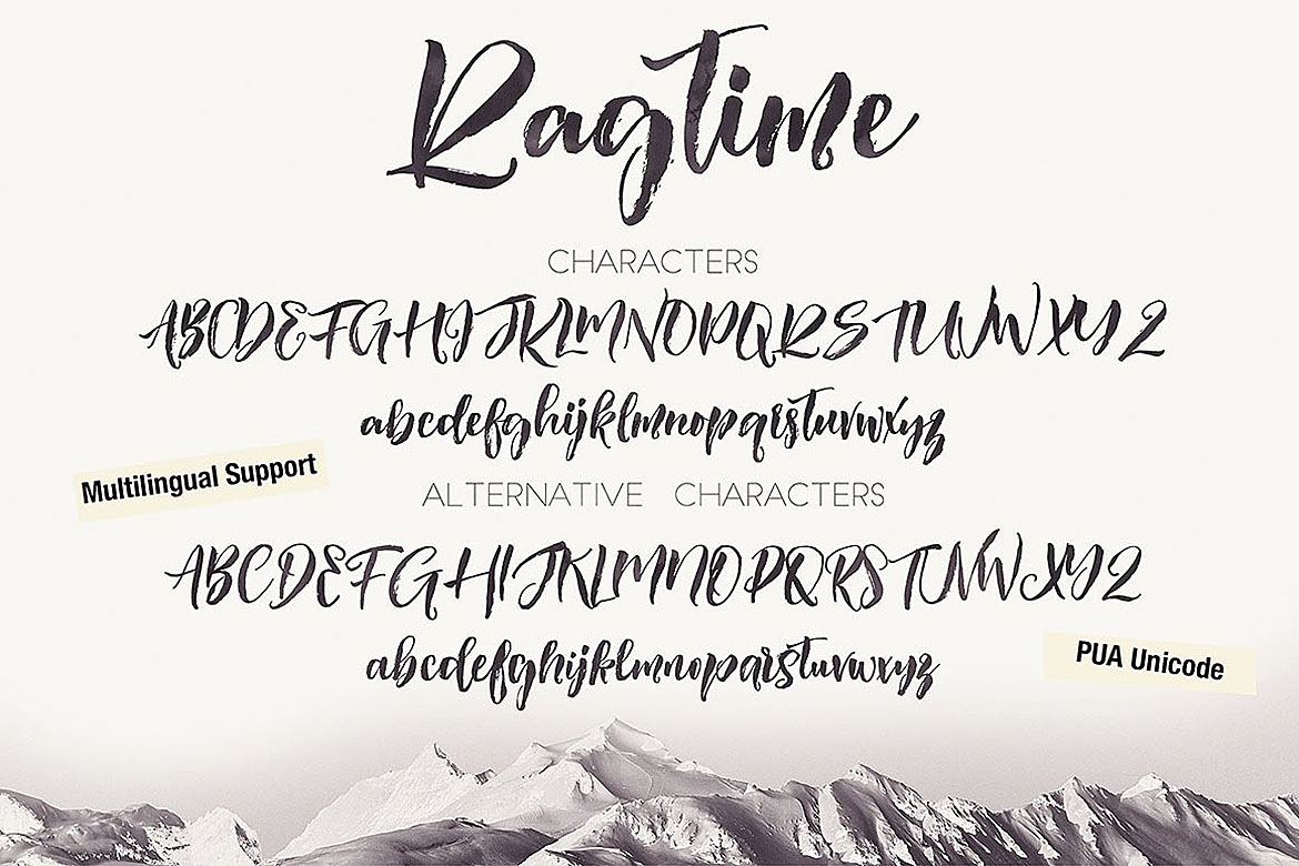 Ragtime - Brush Font Duo example image 4