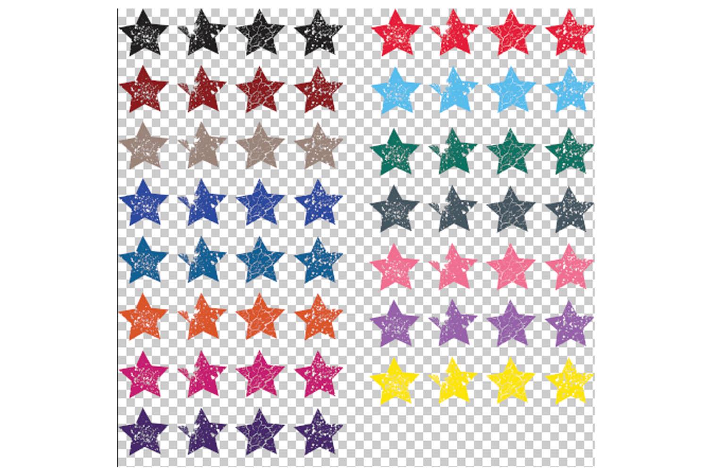 Stars SVG Bundle - Grunge Star Clip Art example image 2