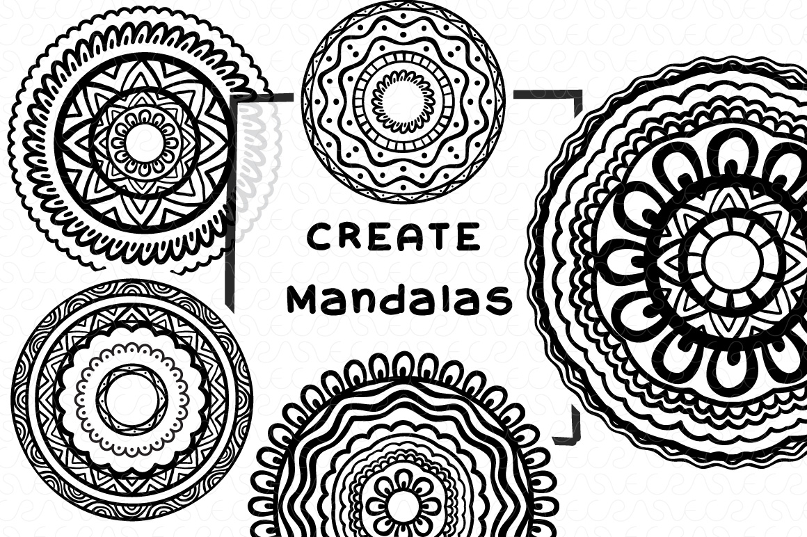 Vector Brushes - Handmade Tribal Style Graphics example image 20