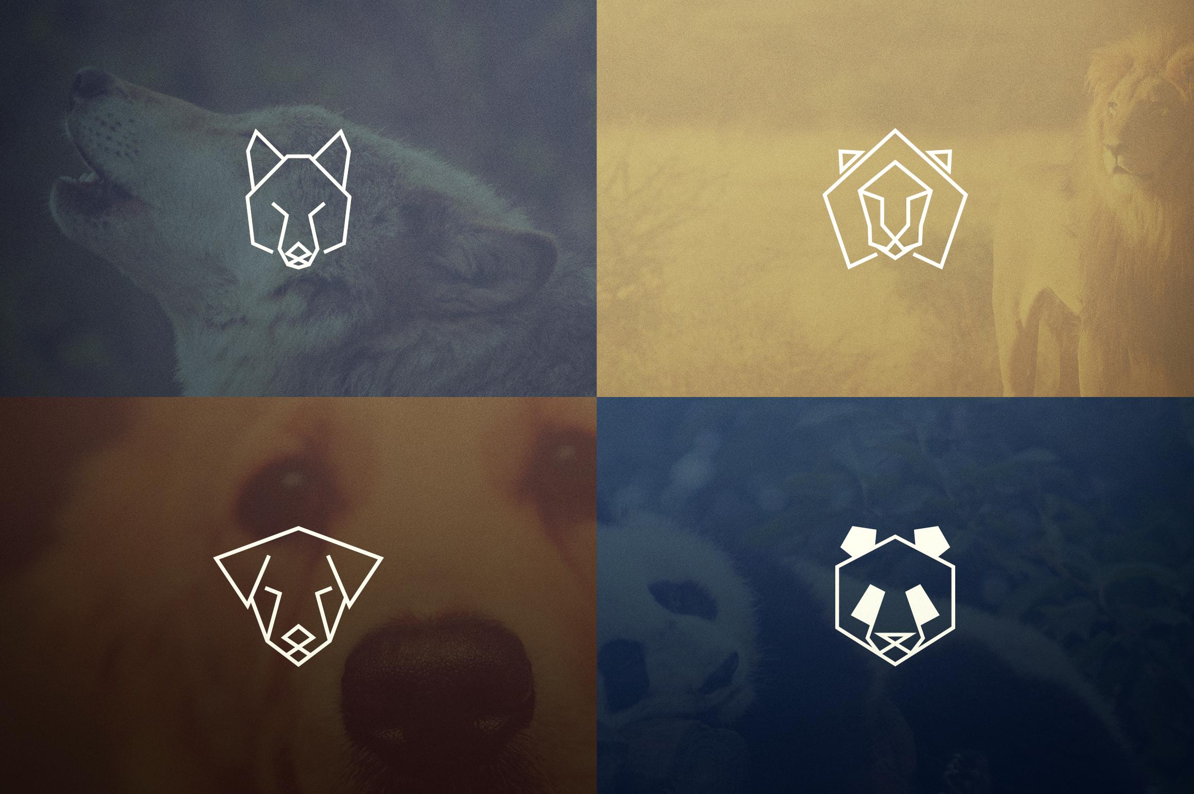 17 Geometric Animal Icons and Logos example image 4