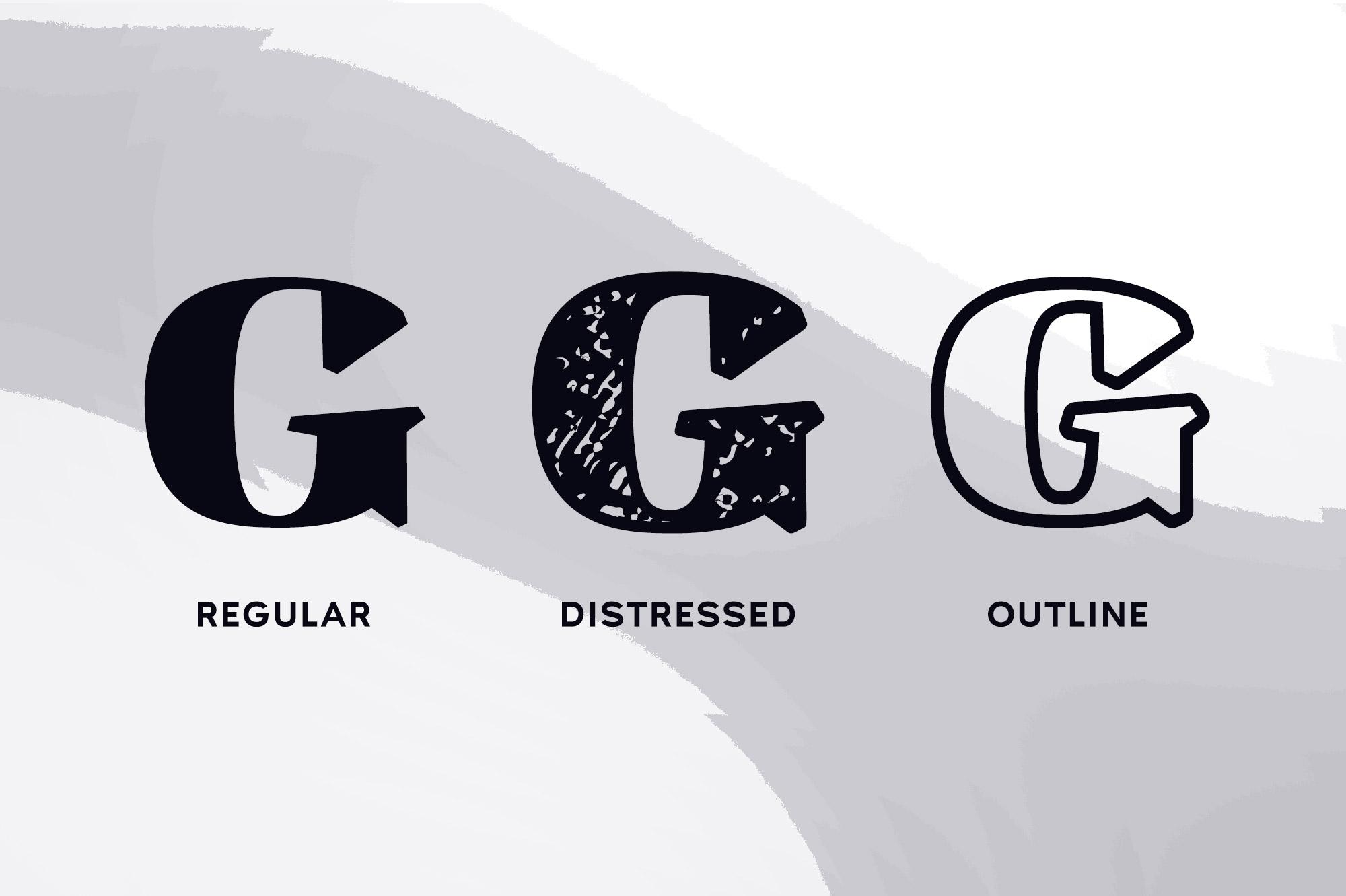 Ardin | Distressed Wedge Serif example image 2