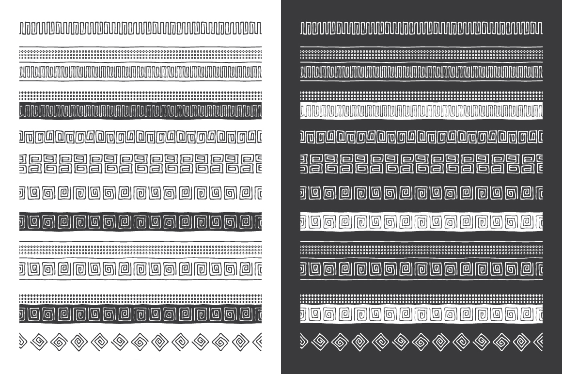 Hand Drawn Pattern Brushes Vol. 04 example image 4
