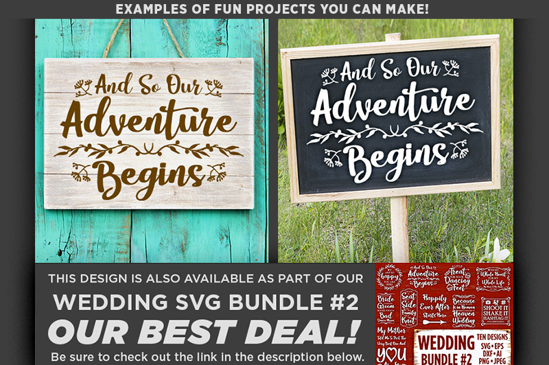 And So Our Adventure Begins SVG Wedding Sign - 5512 example image 2