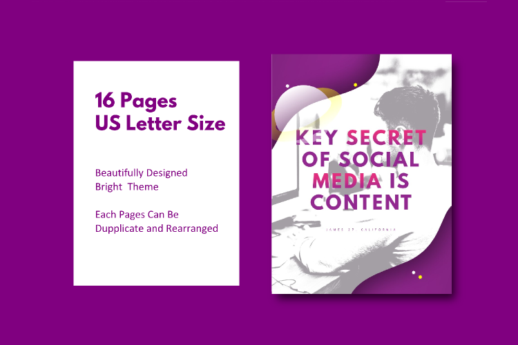 Social Media Marketing Tips eBook Template Keynote Presentat example image 4