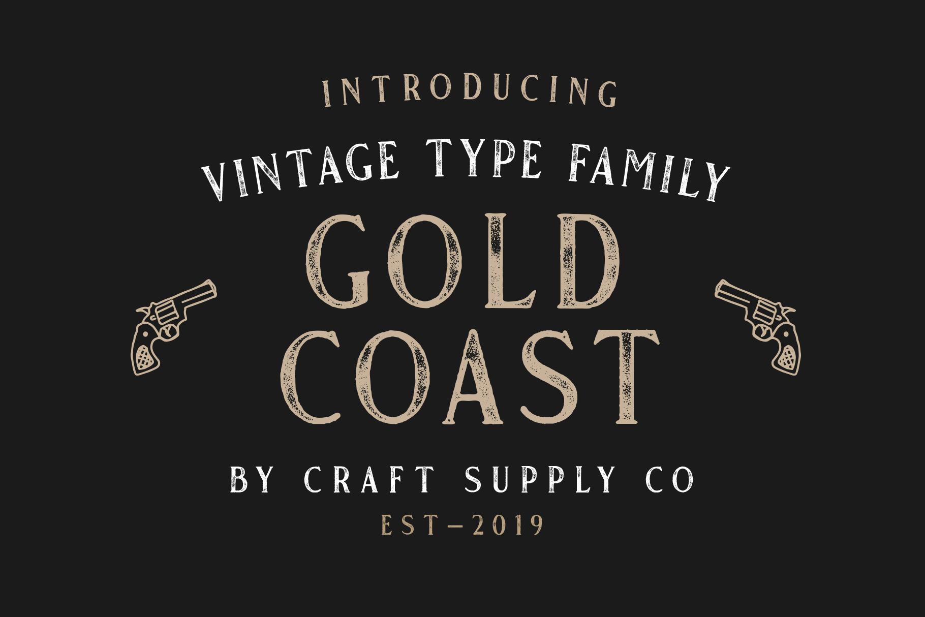 Gold Coast - Vintage Serif Bonus Logo example image 3
