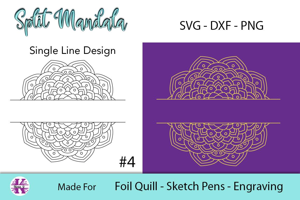 Split Mandala #4 for Foil Quill|Sketch Pen|Engraving example image 2