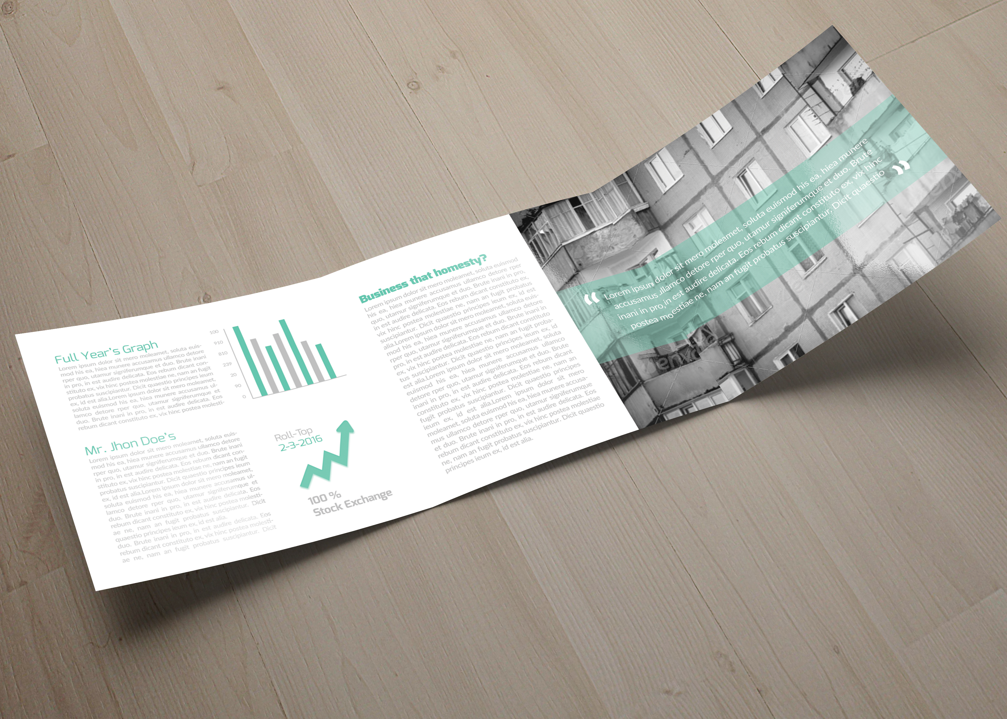 Business Solution Square Trifolde Brochure example image 4