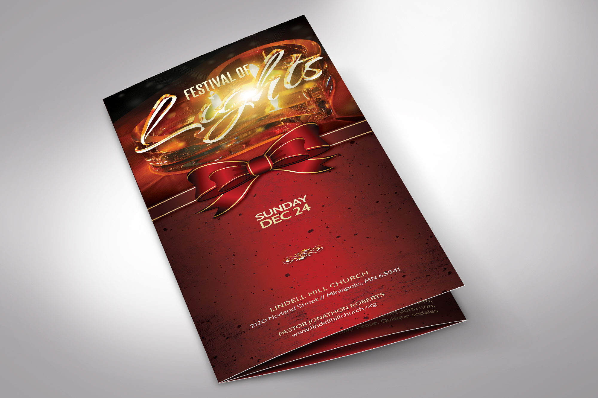 Candle Light Tri-fold Brochure example image 2