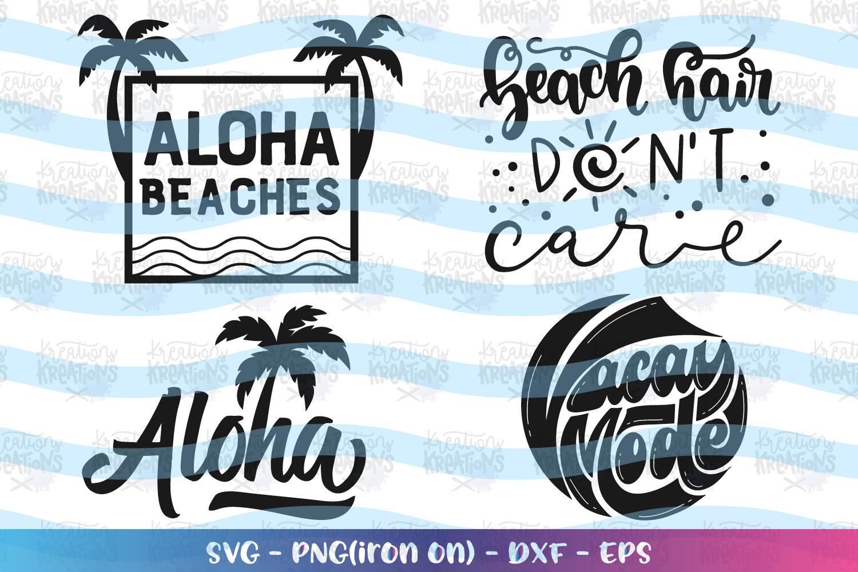 Beach Bundle svg Summer Bundle svg Palm Trees Aloha Beach example image 1