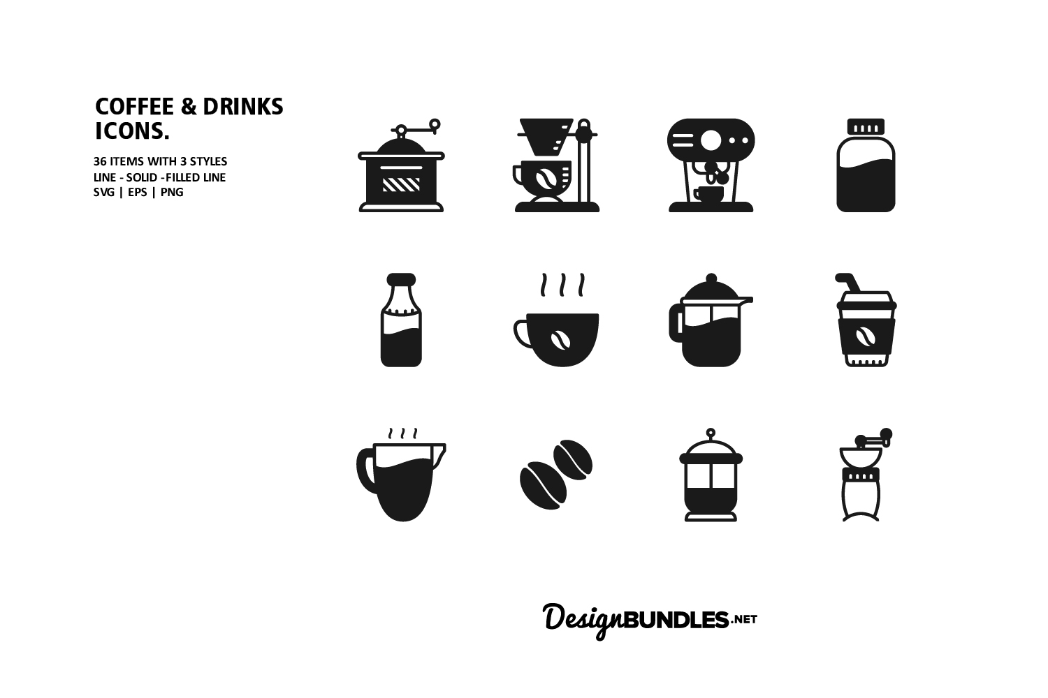 Coffee & Drink Icons example image 3
