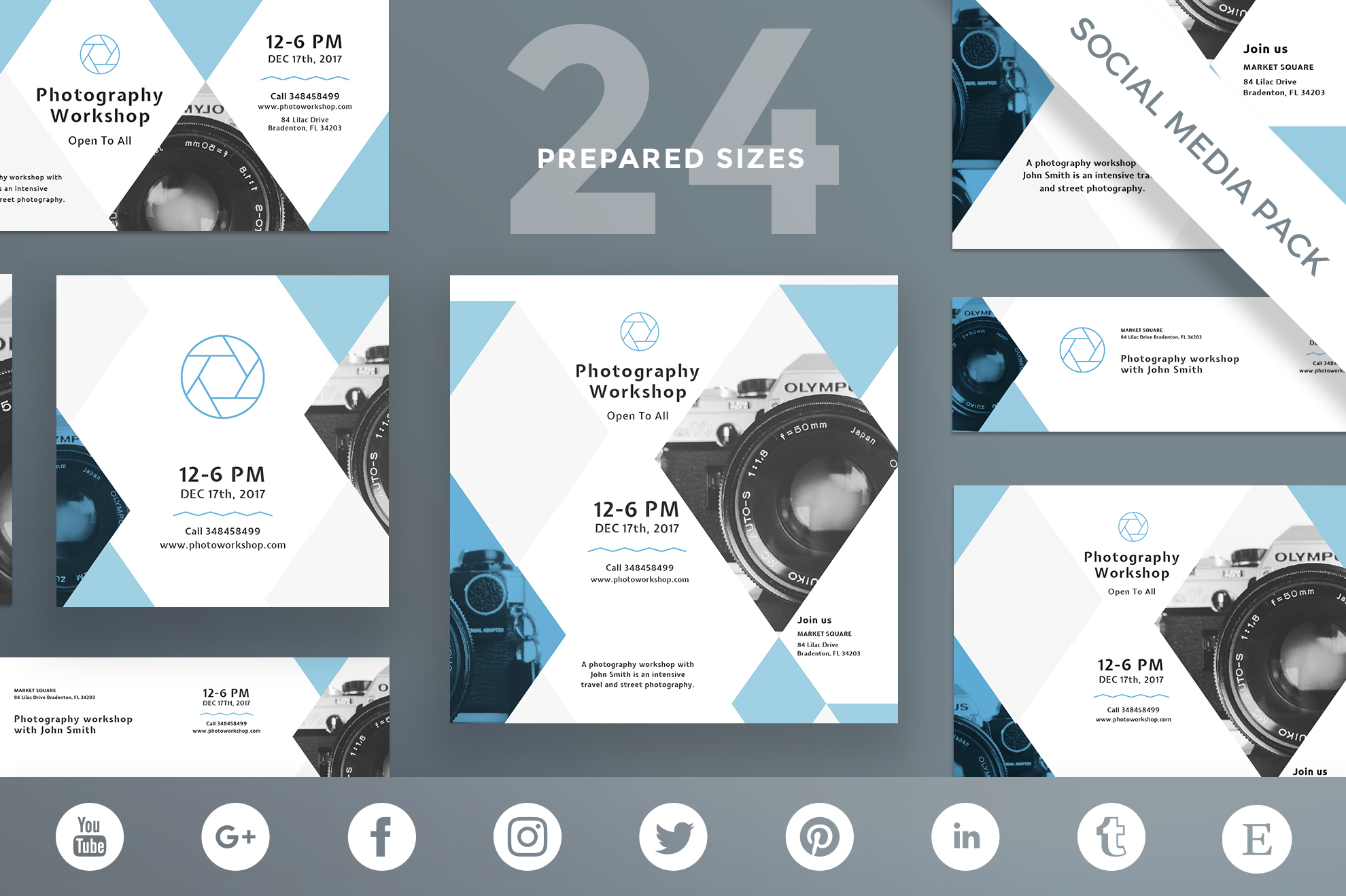 Free Bundle Flyers, Posters, Ad Banners, Social Media Covers and Posts, Business cards, Brending, Identity example image 23