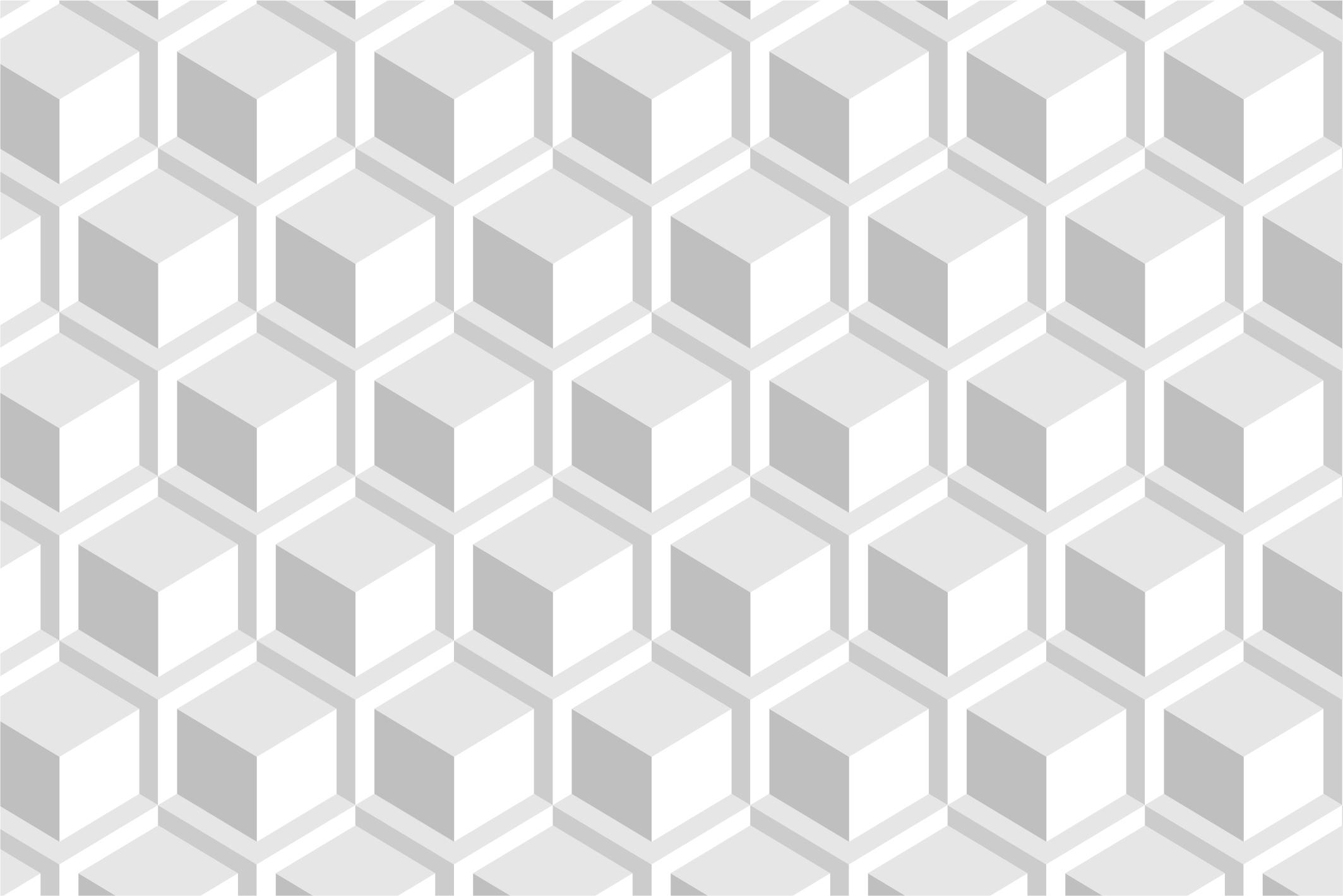 Geometric white 3d seamless textures example image 6