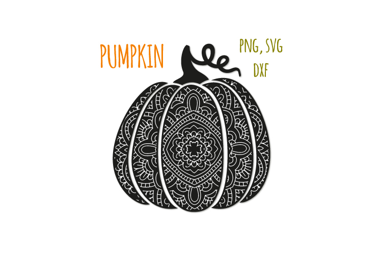 Bohemian pumpkin svg. Fancy pumpkin example image 1