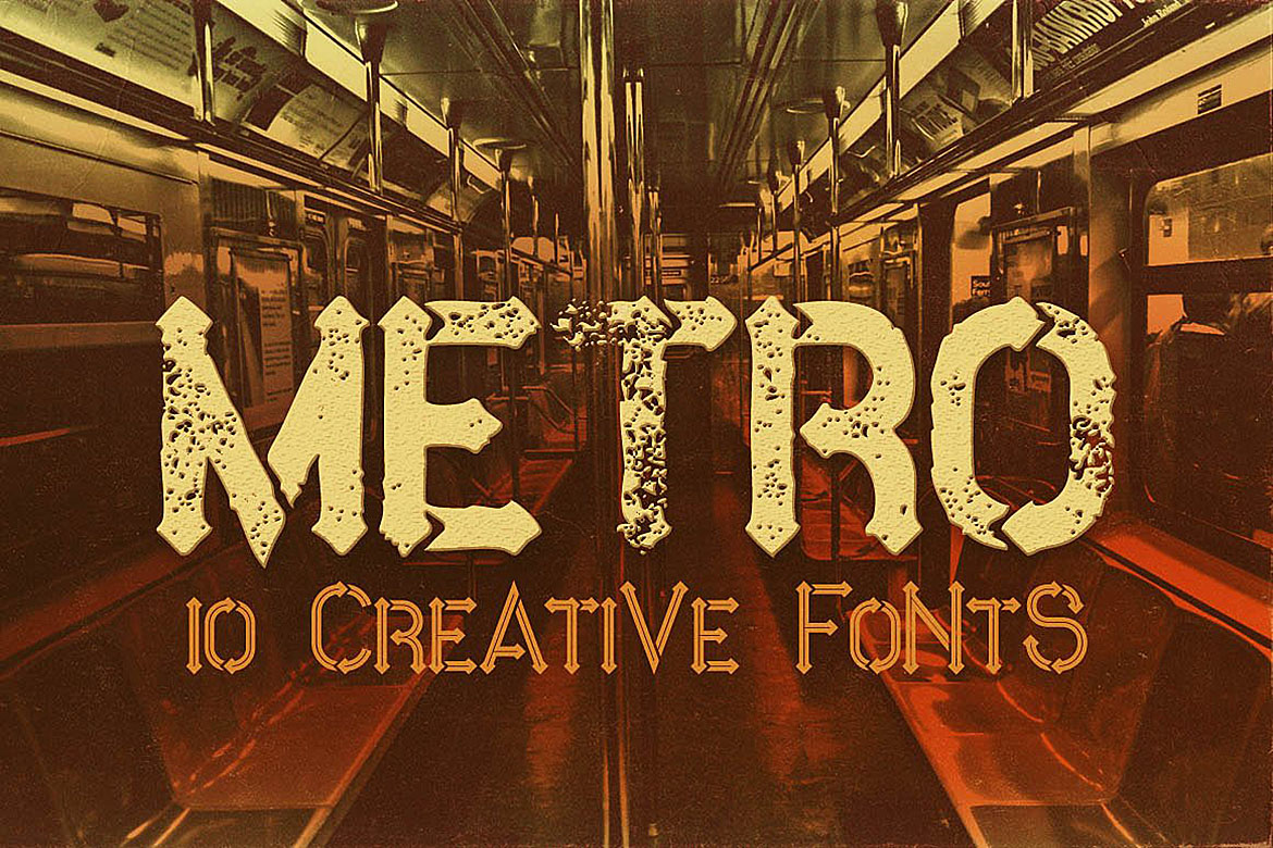 Metro - 10 Fonts Family example image 2