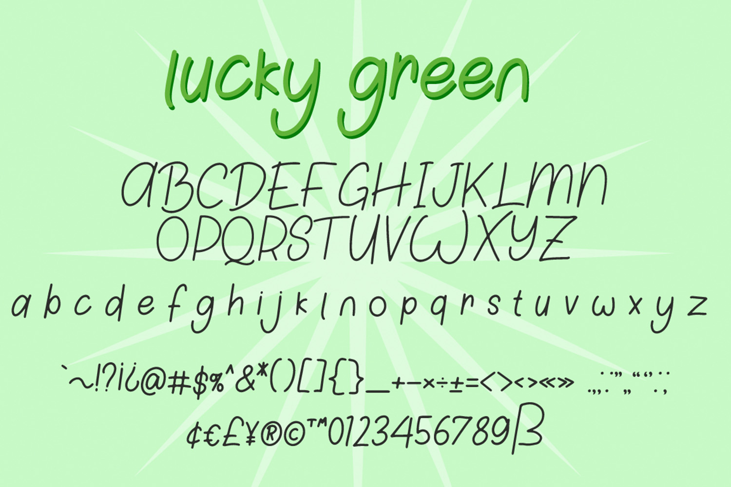 Lucky Green Font Duo example image 6