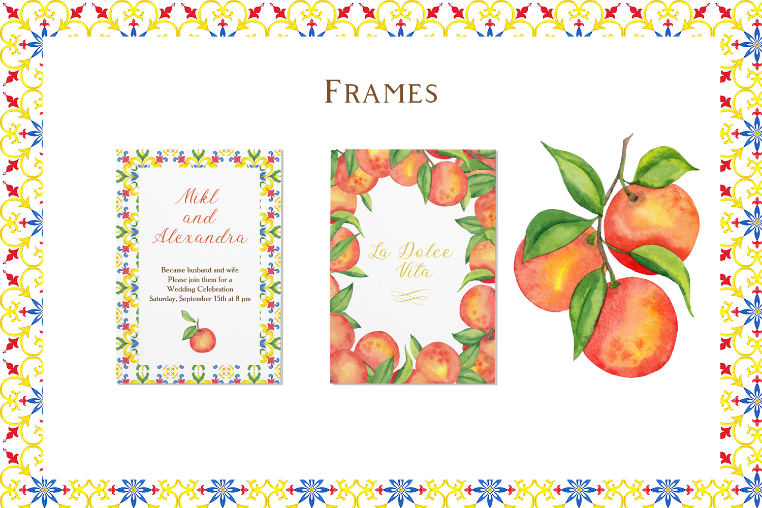 Sicily. Ornament and fruits example image 3