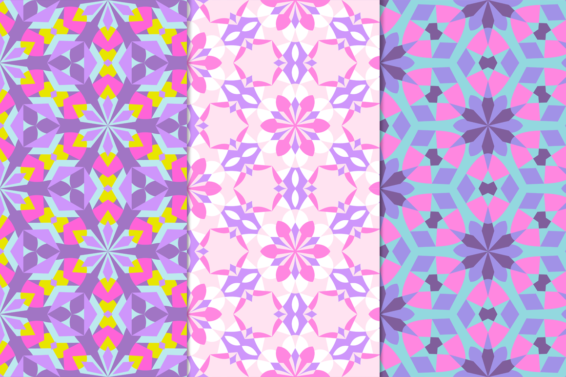 12 Kaleidoscope Seamless Patterns example image 4