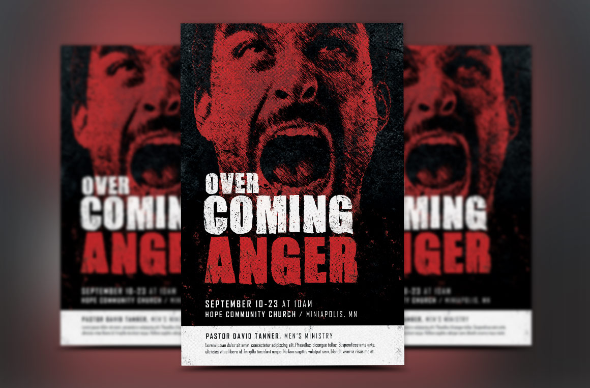 Overcoming Anger Flyer Template example image 3
