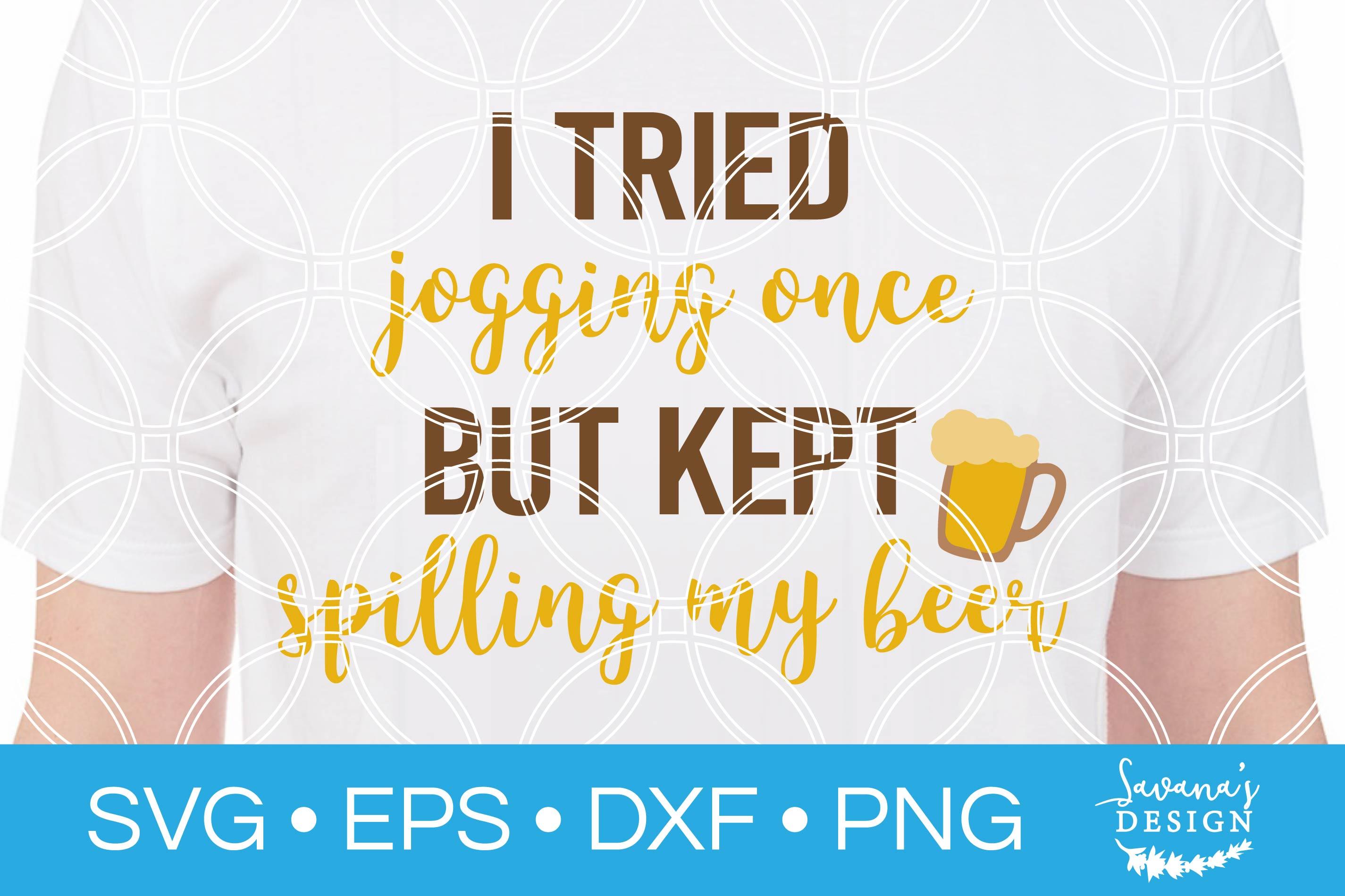 Funny Beer SVG Jogging SVG Gym SVG Workout SVG Shirt SVG example image 1