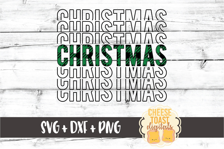 Christmas - Buffalo Plaid Christmas Mirror Word SVG PNG DXF example image 2