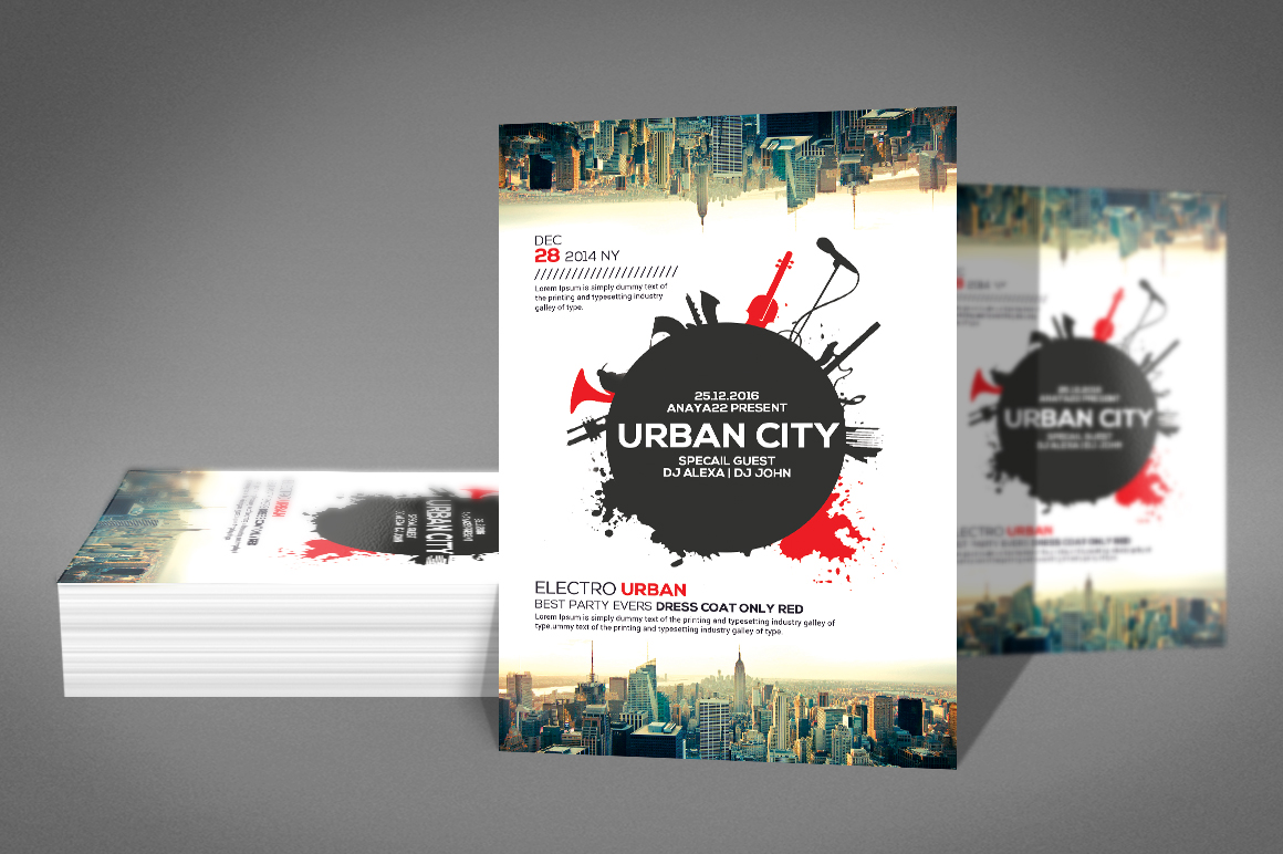Urban Sound Party Flyer example image 2