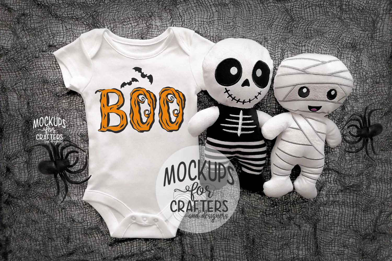 Baby Bodysuit - BONUS PHOTO INCL - Halloween Theme Mock-Up example image 1