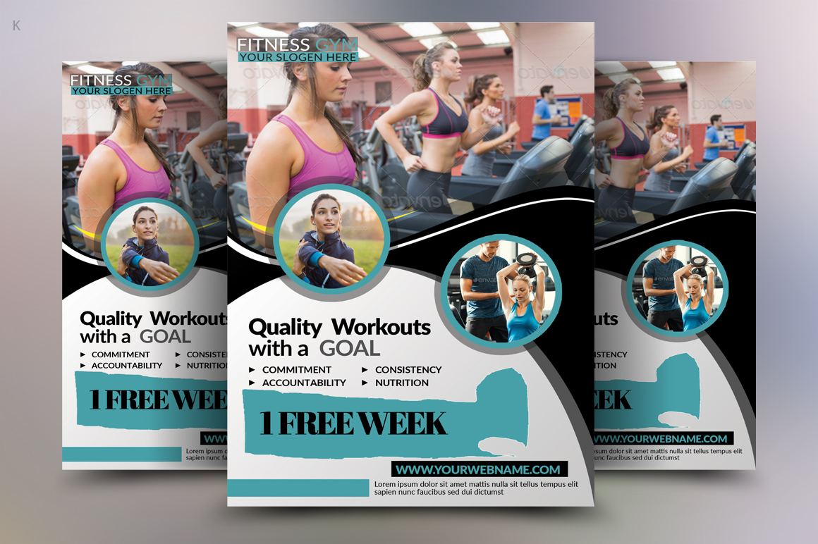 Fitness Flyer Template example image 3