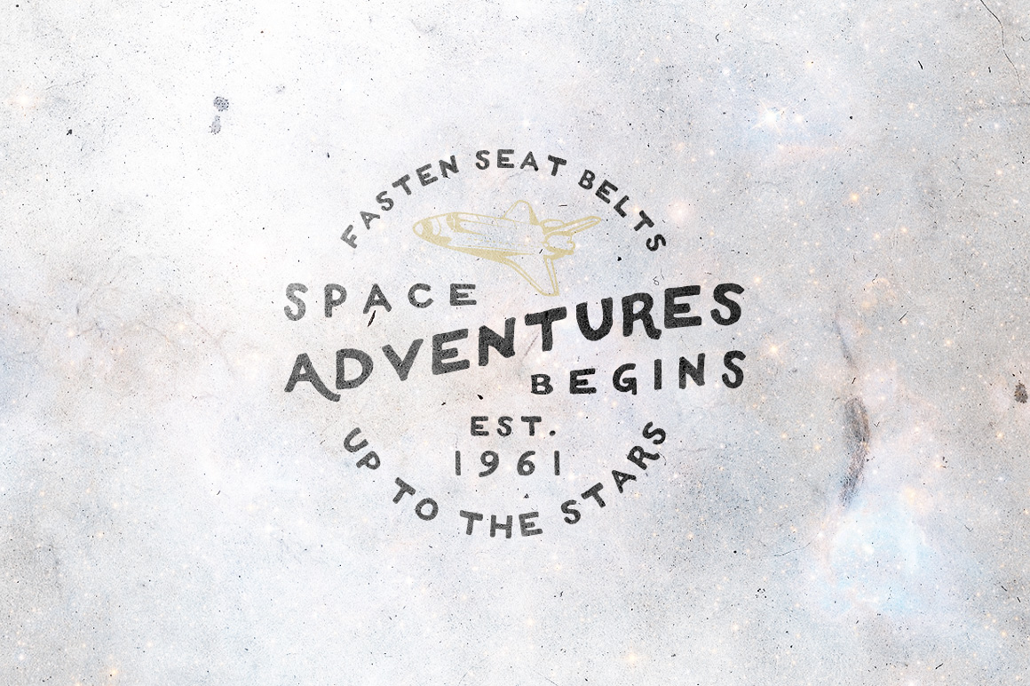 Space Vintage Logos example image 3