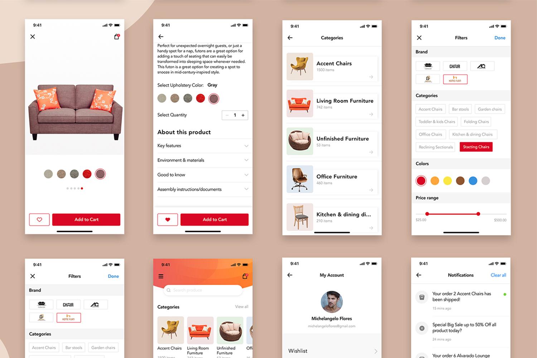 Furniture Design UI Kit example image 8