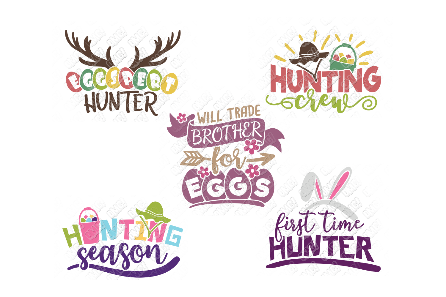 Easter Egg SVG Monogram Quotes in SVG, DXF, PNG, EPS, JPEG example image 7